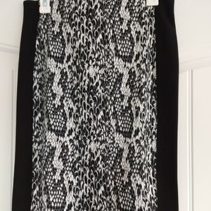 NWT Joe Fresh Black&White Snake Skin Pattern Skirt